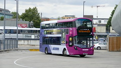Leicester Think About (londonbusexplorer) Tags: first berkshire wrightbus streetdeck 35190 sk16gvn x74 slough high wycombe buses trial leicester