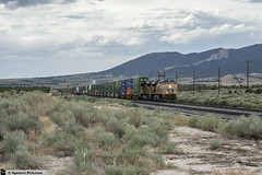 UP 7667 Passing Through Tintic Junction (Utah3002) Tags: up7667 up9045 up unionpacific lynndysub railroads trains railfans utah