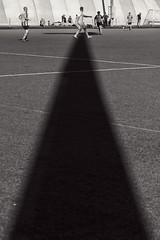 Sundial 2 (pni) Tags: bollis monochrome football footie footy field player human people person being man shadow helsinki helsingfors finland suomi pekkanikrus skrubu pni soccer