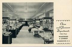 Woodward & Lothrop Department Store Washington D.C. Vintage Postcard