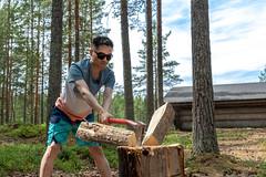 Cutting log_ (VisitLakeland) Tags: finland kuopio lakeland axe cut forest halkaistapuu kirves log luonto lyödä metsä nature outdoor polttopuu puu pölkky timber tree ulkoilu wood
