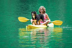 Back to Tallulah (Jon Ariel) Tags: girl tallulahfallsstatepark tallulah northgeorgia georgia ga lake dog kayak