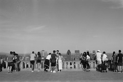 000018690018 (Annelaurea) Tags: montreal montroyal people selfie bw tourist architecture outdoor city skyline summer