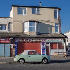 Figaro (subterraneancarsickblues) Tags: blackpool lancashire resort seaside town street urban car nissan figaro bsquare squareformat canon 6d eos6d 1635mm f4l lseries
