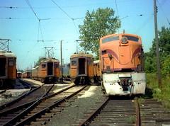 South Shore Michigan City yards 9-2-78 12 (jsmatlak) Tags: chicago south shore line csssb michigan city indiana shops railroad train electric interurban nictd
