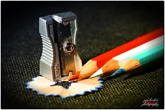 Pencils (psychosteve-2) Tags: pencils colour sharpener red white blue