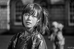 Street Portrait (Cycling Road Hog 2018) Tags: blackwhite candid canoneos750d citylife colour efs55250mmf456isstm edinburgh fashion monochrome people places royalmile scotland street streetphotography streetportrait style urban woman