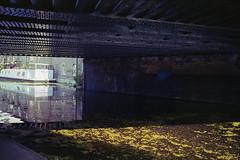 img233 (Gaelle Monin) Tags: islington leicar62 portra400 barge bridge canal homedevelopment reflection