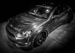 REMAKE (Dave GRR) Tags: hyundai genesis fitted fittedlifestyle 2018 toronto autshow tuning custom bodykit carbon wrap monochrome mono bw rims monster beauty