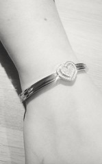 Heart Bracelet. (essex_photography) Tags: jewelled jewellery bracelet arm wrist product photo photography diamond stones sony