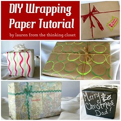 Gift Wrapping Inspiration : DIY Wrapping Paper Tutorial via The Thinking Closet (giftsmaps.com) Tags: gifts
