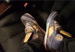 thrashed up DCs (JaydenLooseUnit) Tags: used dirty trashed stink bogan skate bmx shoes worn socks dirt