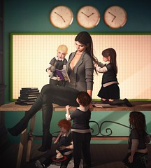 They may forget what you said but they will not forget how you made them feel... (trendyandcoffee) Tags: secondlife sl kids toddleedoo teacher girl love teaching classroom school students book olivertwist art artist photograph photoshop rapport