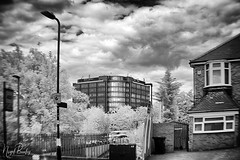EALING 89 (Nigel Bewley) Tags: westworld lynwoodworld ealing london england uk a40 westernavenue street londonist unlimitedphotos july july2018 nigelbewley photologo holga holga60mmf8 widelens canon5dmkii 830nm infrared digitalinfrared advancedcameraservices blackandwhite blackwhite creativephotography artphotography amateurphotographer appicoftheweek sky clouds