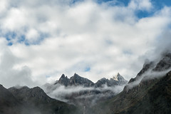 Clouds and mountains from Laya - Gasa District - Snowman Trek - Bhutan (PascalBo) Tags: nikon d500 asie asia southasia asiedusud drukyul drukgyalkhap bhutan bhoutan འབྲུག་ཡུལ། འབྲུག་རྒྱལ་ཁབ་ snowman trek trekking hike hiking lunana gasa himalaya himalayas jigmedorjinationalpark laya landscape paysage mountain montagne clouds nuages sky ciel outdoor outdoors pascalboegli