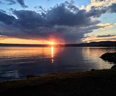 Tramonto sul lago (RealCarlo) Tags: bolsena lake lago travel sunset tramonto foto photo instagram nuvole cielo paesaggio colori riflesso reflection fotografando estate 2018 summer luglio iphonese landscape italia amazing love italy