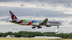 a7-bax_fullres (yul_spotter) Tags: qatar airways boeing b777 b77w doha fifa ge90 a7bax montreal quebec canada yul doh aviation airplane aircraft
