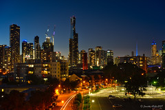 Early evening in Melbourne 2 (NettyA) Tags: australia melbourne sonya7r southbank victoria buildings city evening lights night nightscape skyline
