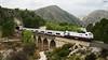 Altaria en Camarillas (lagunadani) Tags: puente viaducto altaria bridge talgo iv renfe 334 tren train ferrocarril locomotora diesel albacete hellin pantano embalse presa camarillas riomundo sonya7