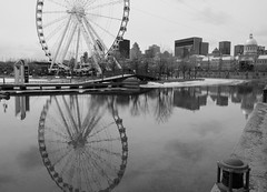 Montreal (jlp771) Tags: montreal reflection water sony ilce6000 bw