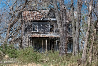 Abandoned house, rural Montgomery County, Maryland