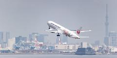 JAPAN AIRLINES B767-300ER JA656J 004 (A.S. Kevin N.V.M.M. Chung) Tags: aviation aircraft aeroplane airport hnd haneda japan airlines 九州 boeing b767300er b767 skytree tokyo skyline