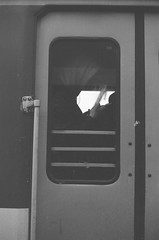 Warsaw, 2018 (Aleksander Kalka Photographiti) Tags: nikon f100 nikkor 50mm f18g rollei superpan 200 f18 g warsaw warschau warszawa varsavia varsovia train zug treno pociag pociąg guy phone telefon telefono zombie telephone cell cellphone zombi hood koleje mazowieckie