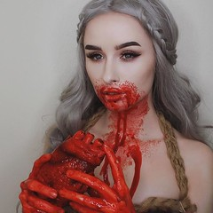 Makeup Ideas for Halloween  Makeup by @rachelgeorgina (ineedhalloweenideas) Tags: ineedhalloweenideas halloween makeup make up ideas for 2017 happy night before christmas october 31 autumn fall spooky body paint art creepy scary pumpkin boo artist goth gothic