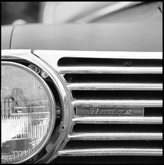 Chrome & steel fury (•Nicolas•) Tags: nicolasthomas 160iso analog analogique france ilfosol koolday motorshow portra yvelines american car steel chrome light