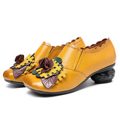 SOCOFY Retro Low Heel Leather Shoes (1215767) #Banggood (SuperDeals.BG) Tags: superdeals banggood bags shoes socofy retro low heel leather 1215767