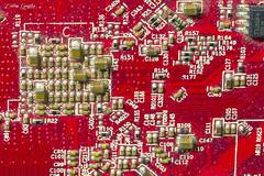 Tarjeta gráfica de ordenador / Computer graphics card (CrisGlezForte) Tags: tarjeta gráfica de ordenador computer graphics card electronics devices macromonday insideelectronics