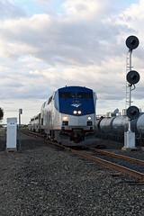 Amtrak 14 (caltrain927) Tags: union pacific railroad amtrak passenger train coast starlight detour reroute ge p42dc lathrop california ca