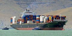 CPO SAVANNAH Container Ship (Bernard Spragg) Tags: cposavannah containership nautical sea ocean marine tugboat lumix
