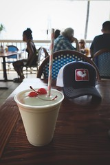 pina colada (BPPrice) Tags: beach hat beverage drink refreshment keywest pinacolada florida southernmostbeachcafe