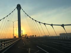 Sunset over the bridge (elecing1) Tags: iphonex bridge sunset