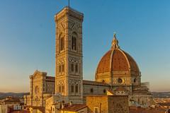 Santa Maria del Fiore al tramonto (mirco.81) Tags: firenze florence brunelleschi dome cathedral cupola giotto campanile arte architettura art architecture tuscany