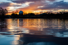 Only Love is All Maroon (Thomas Hawk) Tags: arizona gilbert phoenix riparianpreserve riparianpreserveatwaterranch usa unitedstates unitedstatesofamerica waterranchlake lake observatory sunrise