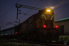 MLY DM3A working in the graveyard shift. ;) (cyberdoctorind) Tags: ifttt 500px indian railways locomotives stations yards running ops alco moula ali diesel loco shed wdm3a