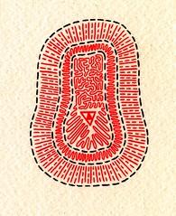 Bacteria // Beanbag (Daniel Ari Friedman) Tags: pen ink paper drawing art red black white freehand abstract representation image cartoon scan