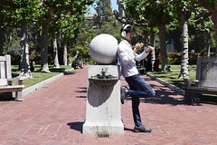 Preoccupied (-»james•stave«-) Tags: berkeley california ca university college student guy headphones people world sphere knowledge candid nikon d5300