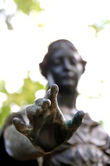 helping Hand (Wackelaugen) Tags: psalm help hand focus blurred statue faith jesus sunday canon eos photo photography stephan wackelaugen lapidarium stuttgart germany