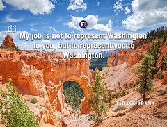 Barack Obama Quote My job represent (Friends Quotes) Tags: american barackobama job my obama popularauthor president represent washington
