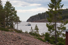 Un bateau arrive (sosivov) Tags: sweden norrfällsviken highcoast högakusten landscape seascape sea boat coast