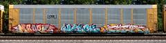 Mbark/Kerse/Gier (quiet-silence) Tags: graffiti graff freight fr8 train railroad railcar art autorack mbark kerse gier amfm d2f wafact csx ettx715992