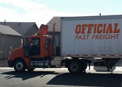 Official Fast Freight (ashman 88) Tags: freightliner truck semi bigrig officialfastfreight tractortrailer candid freight trucking ltl ltlservice prescottvalley arizona az