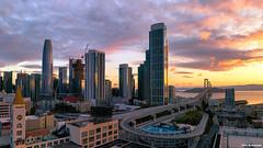 San Francisco Sunrise (davidyuweb) Tags: san francisco sunrise sanfrancisco bay bridge salesforce tower luckysnapshot 三藩市