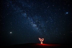 Angel Under Heaven (Sanjiban2011) Tags: astrophotography milkyway lightpainting lightpaint longexposure nightphotography outdoor abudhabi alrazeen uae nature stars sky nikon d750 tamron tamron1530