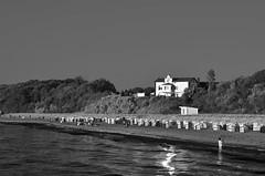 Baltic Sea beach (mechanicalArts) Tags: ostsee strand bäckerei cafe strandkörbe schwarzweis bw baltic sea beach