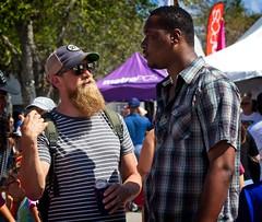 One-Way Conversation (LarryJay99 ) Tags: 2018 lakeworthstreetpaintingfestibal urban festivals crowds florida people men male man guy guys dude dudes