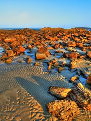 Reflections between III (elphweb) Tags: nsw australia hdr highdynamicrange sand sandy shore shoreline rocks rock rocky rockformation reflections reflection seaside